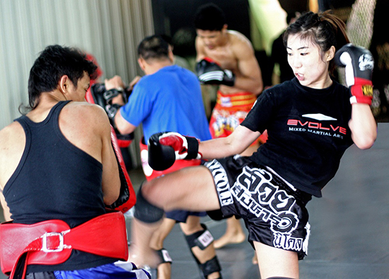 Nicole Chua Training At Evolve MMA