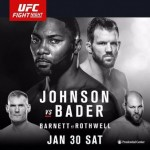 """UFC On FOX 18: """"Johnson vs Bader"""" Live Play-By-Play & Results"""