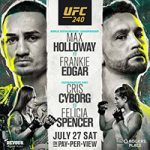 "UFC 240: ""Holloway vs Edgar"" Live Play-By-Play & Results"