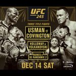 "UFC 245: ""Usman vs Covington"" Live Play-By-Play & Results"